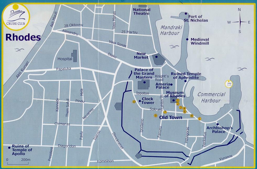 Схема Старого города.