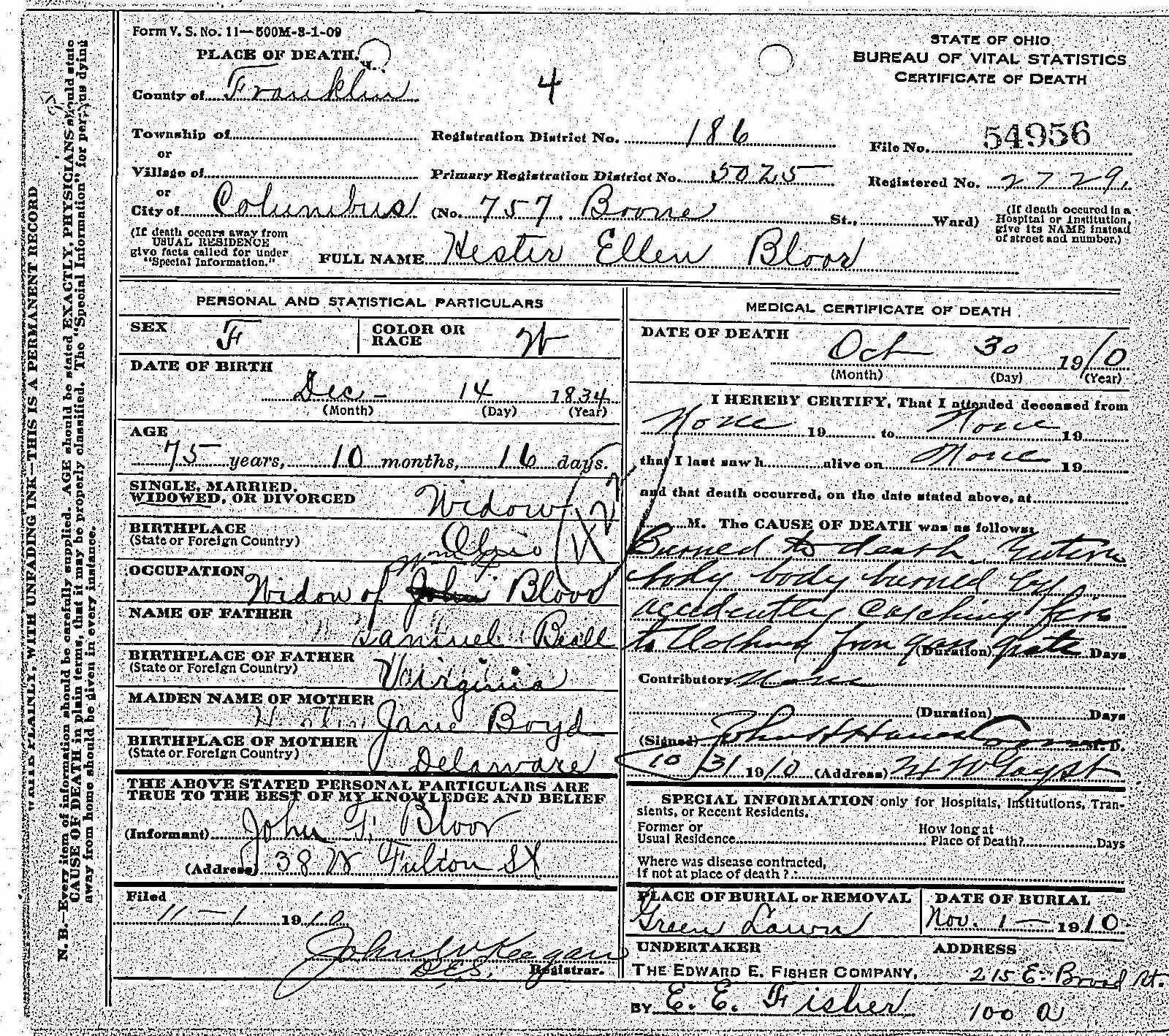 William F. Bloor, Marriages and Children
