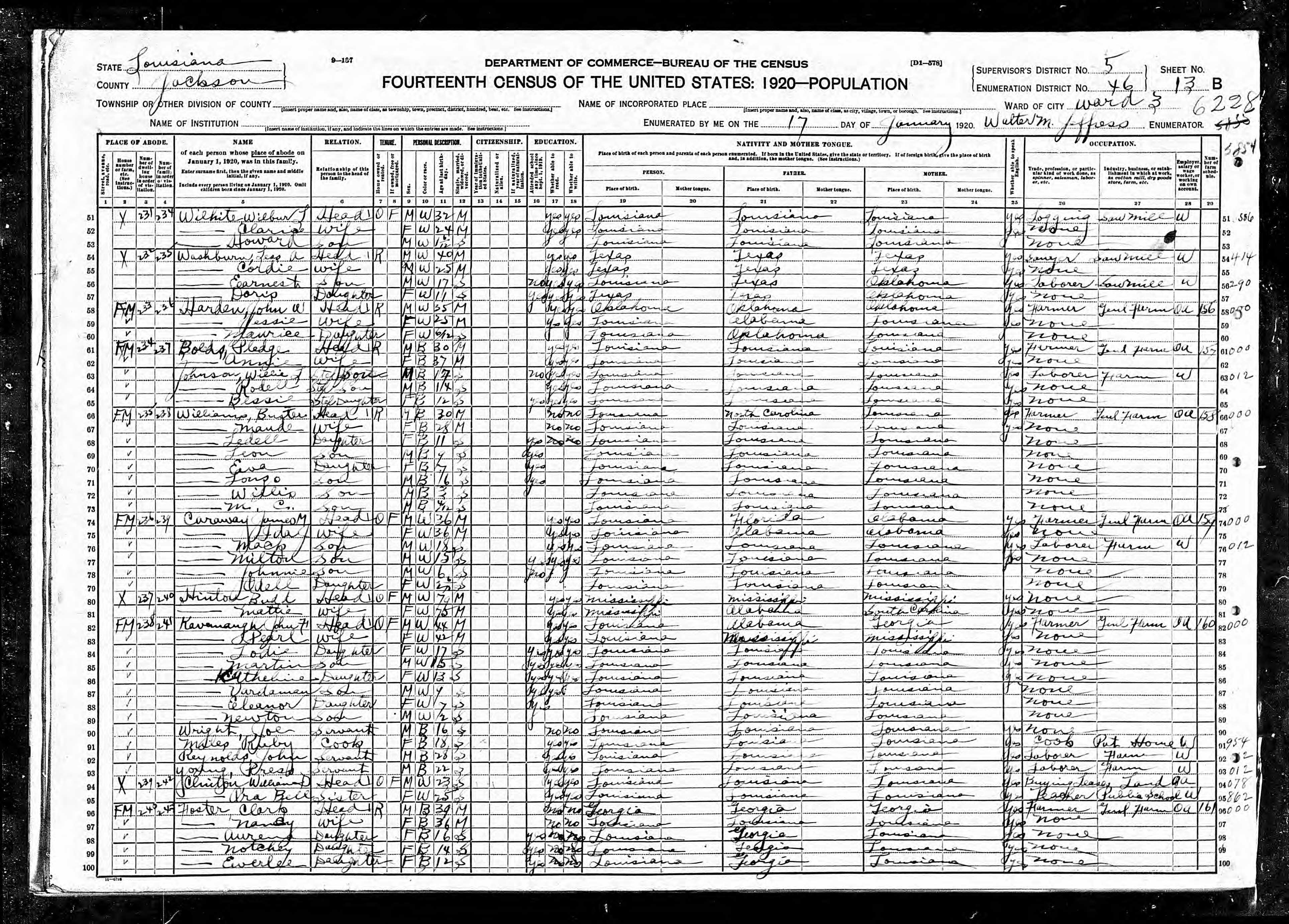 William Jackson Stewart Marriages And Children - 1920 us census map for meriweather county georgia